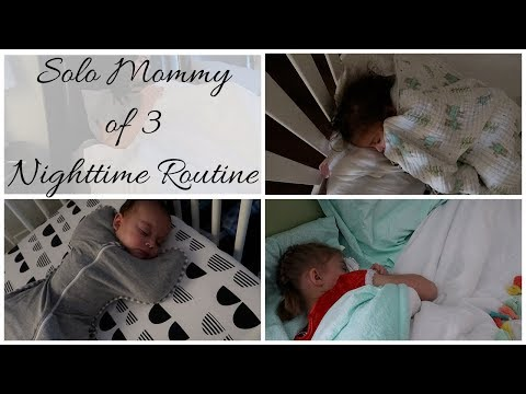 Nighttime Routine with a Newborn | Solo Mommy Nighttime Routine