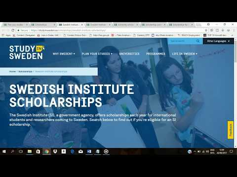 Scholarships in Sweden for Pakistani Students