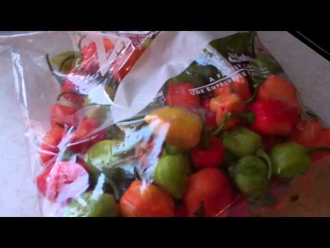 How To Store Hot Peppers For The Winter Without Losing It's Heat And Flavors.