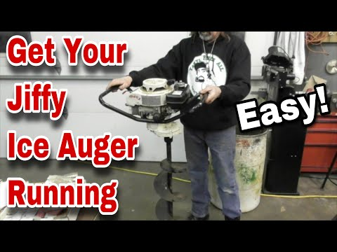 How To Fix A Jiffy Ice Auger (Ice Drill) That Won't Start - with Taryl