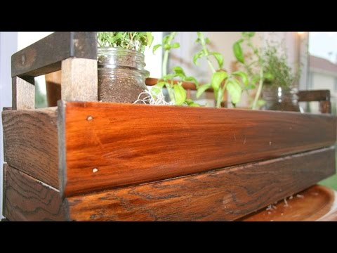 How To Easy Reclaimed Trim Table Top Herb Garden Box - DIY Home Tutorial - Guidecentral