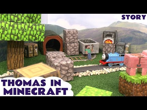 Thomas The Tank Engine Minecraft Papercraft World Toy Story Episode Steve Creeper Enderman