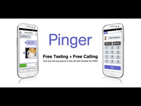 Pinger Make Free Phone calls on Android & Free Text Messages