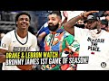 Drake & LeBron Watch BRONNY'S FIRST GAME OF THE SEASON!! Reaction