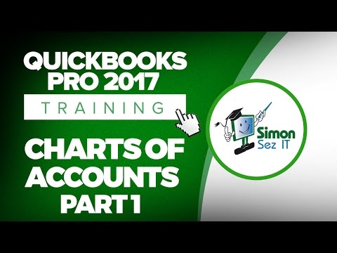 QuickBooks Pro 2017 Tutorial: Setting Up the Chart of Accounts - Part 1