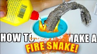 How To Make A FIRE SNAKE With HOUSEHOLD OBJECTS!