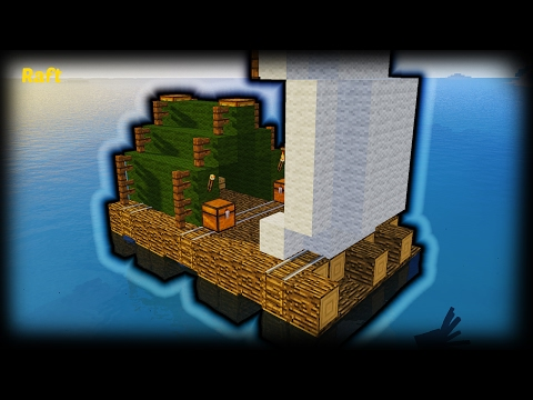 Minecraft - How To Make A Raft Surival House | Easy | Tutorial