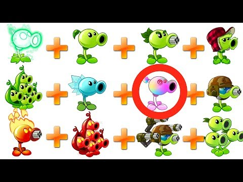 Every Pea in Plants vs Zombies 2 All Peashooters Challenge Walkthrough - POWER UP VS BIG WAVE BEACH