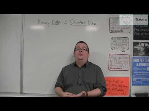 Core Maths - Primary Data vs Secondary Data