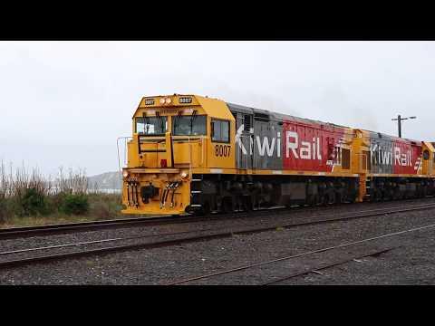 KiwiRail Train 736 Leaving Kaikoura With DXR 8007 And DXR 8022