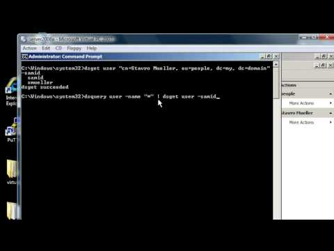 Windows Server 2008: dsget, get information about active directory users with command line