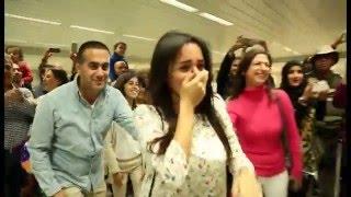 Bruno Mars Marry You Flash Mob Proposal Jacob and Eliane - Beirut Rafic Hariri International Airport