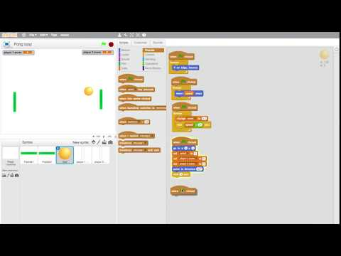 Scratch Tutorials how to make Pong game