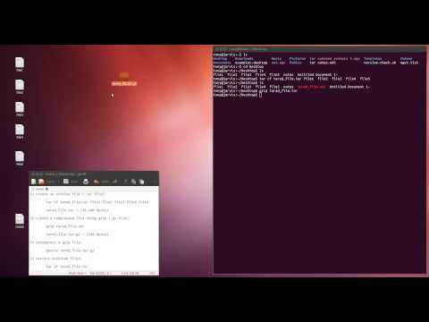 How to create and extract a .tar.gz file