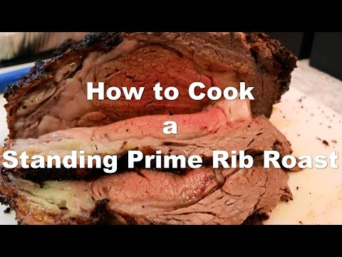 How to cook prime rib standing rib roast beef plus bonus mushroom sauce recipe!
