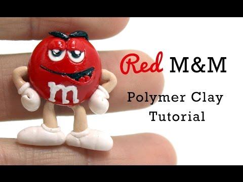 Red M&M Polymer Clay Tutorial | Collaboration w/ LittleSurprisesYT