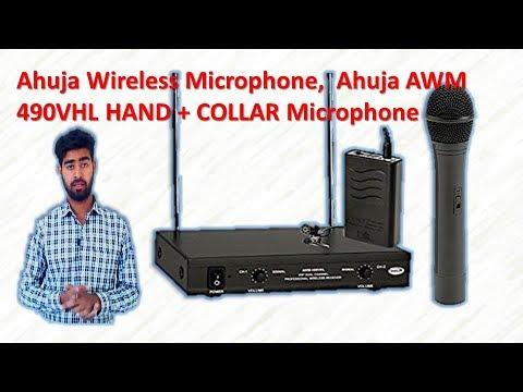 Ahuja Wireless Microphone, Ahuja AWM-490VHL HAND + COLLAR Microphone