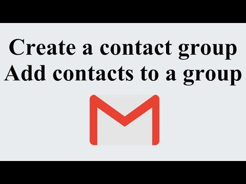 Create Gmail Contact Group & Add contacts to a group