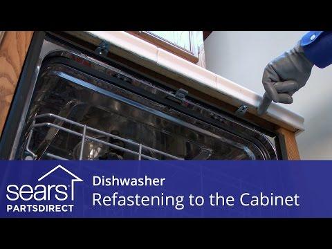 Dishwasher Tilting Forward: Refastening to the Cabinet