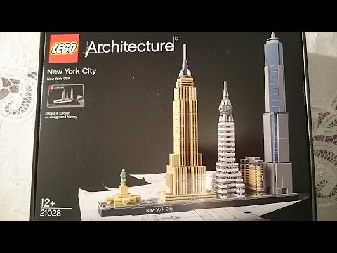 LEGO Architecture New York City skyliner 21028 speed build and unboxing