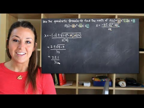 Use the quadratic formula to find roots of the function (KristaKingMath)