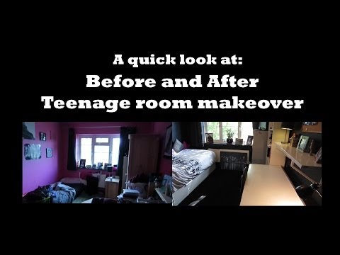 A quick look at before and after room makeover