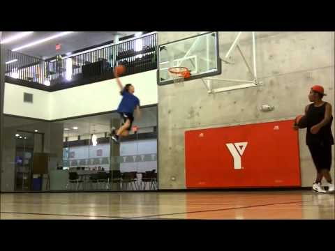 White Kid  5feet 8 inches Dunks After 6 Months Of Training