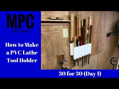 How to Make a PVC Lathe Tool Holder