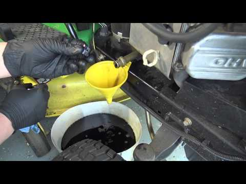 John Deere Riding Lawn Tractor Oil Change Tips