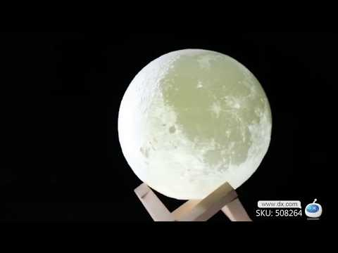 Easily put the moon in your hands!3D Print LED 16 Colors Moon Style Light, Remote Touch Control