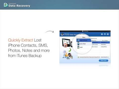 Tenorshare iTunes Data Recovery - How to Extract Files from iTunes Backup