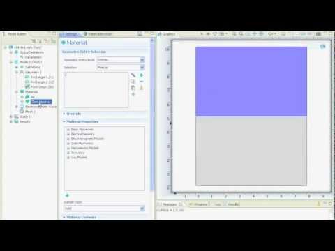 (14) Extract Data from Simulation, Line Scan, Line Graph - COMSOL 4.2 Tutorial