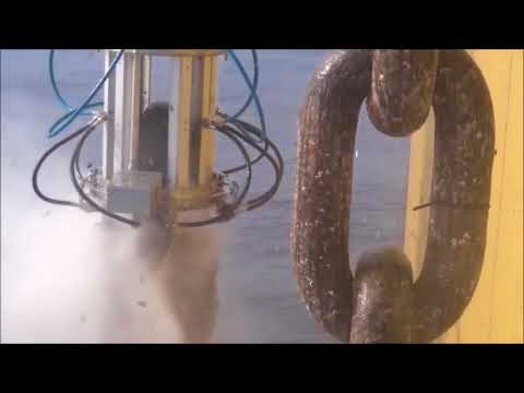 Cleaning Ship Anchor Chains