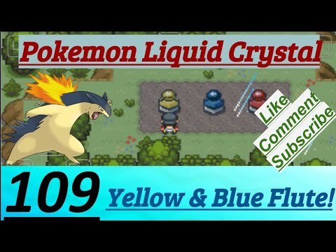 Pokemon Liquid Crystal Episode 109 Hollow Cave,  Yellow Flute & Blue Flute Placed All Instruments