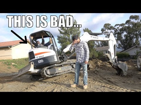 I TRIED TO TEACH HIM TO OPERATE AN EXCAVATOR!