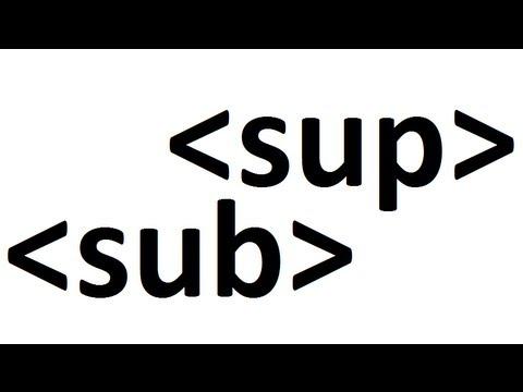 Learn HTML code: subscript superscript
