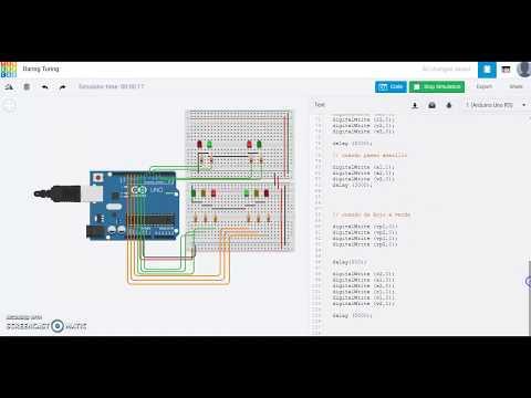 Arduino Laboratorio 1 - Simulación Semáforo con TinkerCad