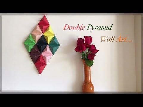 Paper Pyramid Wall Decor / DIY / Origami Double Pyramid   Priti Sharma