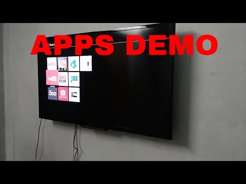 Sony Bravia W562D Led Smart TV Apps Demo & Review