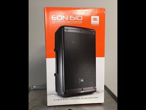 JBL EON610 unboxing