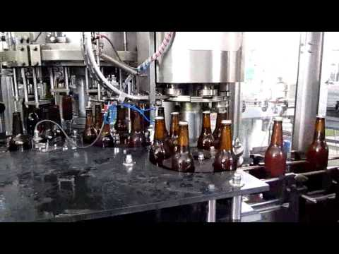 Beer glass bottle washing filling capping 3 in 1 machine