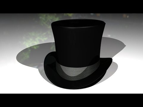 Maya tutorial : How to model a Top Hat