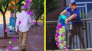 Raining Water Balloon Prank