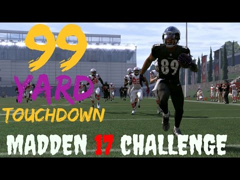 Can Steve Smith Sr. Catch A 99 Yard Screen Pass For A Touchdown - Funny Madden 17 Challenge
