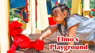 Elmo At The Playground Slide and Swings Fun Outdoor Play For Kids Toddlers Children