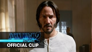John Wick: Chapter 2 – In Theaters February 10 Starring Keanu Reeves, Common, Riccardo Scamarcio, Laurence Fishburne, Ruby Rose, Bridget Moynahan, Lance Reddick, Franco Nero, with John Leguizamo, and Ian McShane   #JohnWick2  http://www.JohnWick.movie http://www.facebook.com/johnwickmovie http://www.twitter.com/johnwickmovie http://www.instagram.com/johnwickmovie  In this next chapter following the 2014 hit, legendary hitman John Wick [Keanu Reeves] is forced back out of retirement by a former associate plotting to seize control of a shadowy international assassins' guild. Bound by a blood oath to help him, John travels to Rome where he squares off against some of the world's deadliest killers.