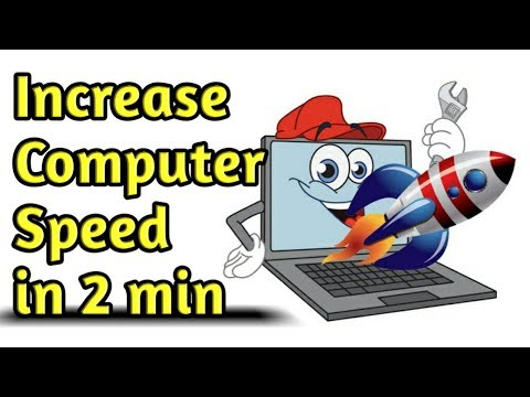 Computer Speed  Increase  in 2 minute, 4 way to Improve Computer performance  (2018)
