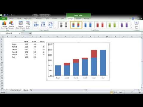 Advanced Excel Waterfall Chart 2016