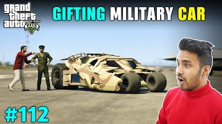 COLONEL GIFTS SECRET MILITARY CAR TO MICHAEL | GTA V GAMEPLAY #112