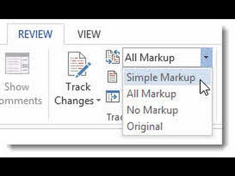 Word 2013 Tracked Changes and Markup - What's New?
